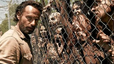 Stand-off ... <i>The Walking Dead</i> is supposedly running at a deficit but writer/producer Frank Darabont says he's been deprived tens of millions of dollars in profits.
