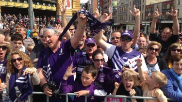 Freo fans were out in force.