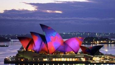 Lighting the Sails - Sydney Opera House