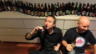 Scott Ellis and Shane Maguire are drinking their way through the year, with one new beer each day.