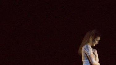 Lisa Dwan performs in Footfalls in New York.