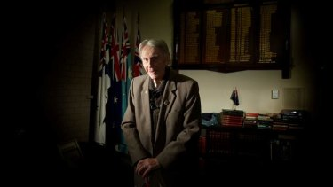 Lest we forget: World War II veteran Fred Lasslett at his much-loved Heidelberg RSL.