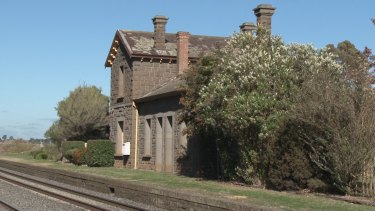 Taradale train station building where Wayne Clarke was abused as a child.