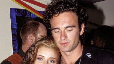 Explosion ... Dannii Minogue and Julian McMahon in 1992.