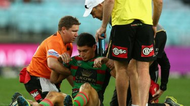 Concussion shake-up: Kyle Turner after a blow to the head last year.