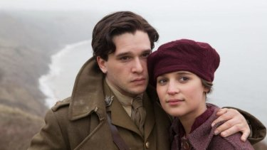 Roland Leighton (Kit Harington) and  Vera Brittain's (Alicia Vikander) romance is rudely interrupted by World War I in <i> Testament of Youth</i>.