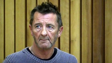 Phil Rudd appears in court in Tauranga, New Zealand.