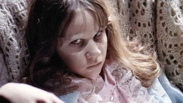 Linda Blair in <i>The Exorcist</i>.