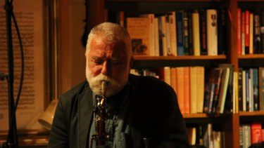 Peter Brotzmann put his sonic squalls against a pedal steel guitar in concerts this year.