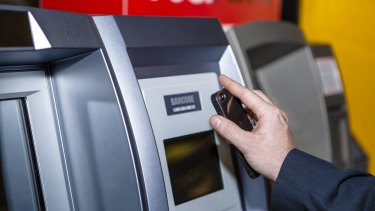 Canberra's first two-way bitcoin ATM in the Canberra Centre.