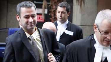 iiNet chief executive Michael Malone leaving the Federal Courts last year during the eight-week trial.