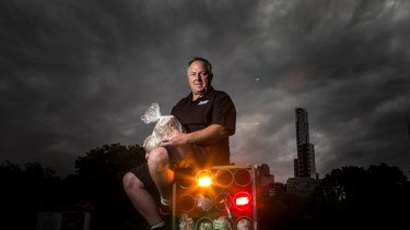 This will be the ninth year Howard & Sons pyrotechnician Rusty Johnson has been involved in putting on Melbourne's New Year's Eve fireworks display.