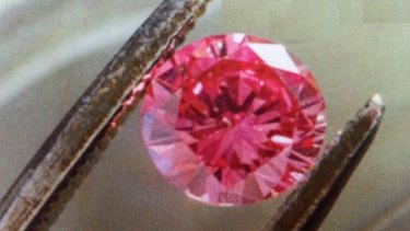 Pink Argyle diamond similar to one stolen from Cairns retailer.
