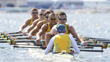 """""""The guys have got to be really tunnel visioned and really just listen for my voice"""" ... cox of the Australian men's eight Toby Lister."""