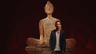 Impressive: Sopheap Pich with one of his works at the Sherman Contemporary Art Foundation in Paddington.