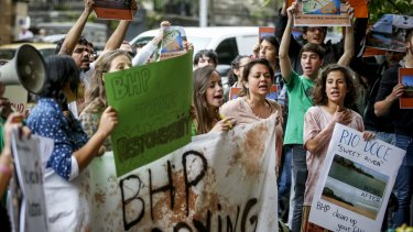 At least one group is planning to demonstrate outside BHP's London AGM this week.