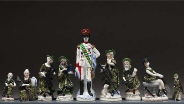 Gaddafi and friends ... Penny Byrne's figurines.