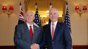 US Vice-President Mike Pence told Prime Minister Malcolm Turnbull the US will not relent until the Korean peninsula is free of nuclear weapons.