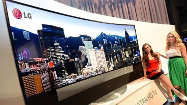 A curved 4K TV on offer from LG.
