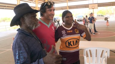 Jonathan Thurston has launched 'Lead like a girl,' in remote Doomadgee this week, a new program to empower indigenous girls.