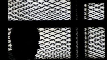 Al-Jazeera's Australian journalist Peter Greste during his court appearance on Sunday.