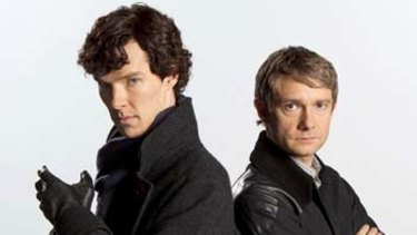 Trusty sidekick ... Watson (Martin Freeman) is loyal to Sherlock Holmes (Benedict Cumberbatch).
