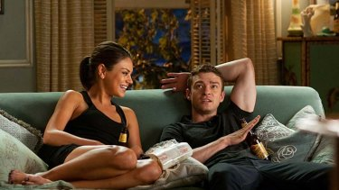 On screeen chemistry ... Mila Kunis and Justin Timberlake in <em> Friends With Benefits</em>.