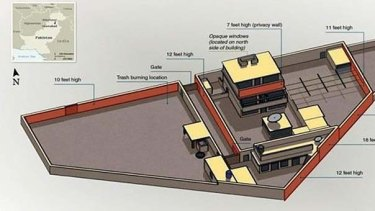 A diagram from the CIA shows the layout of Osama bin Laden's compound.