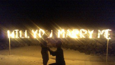 Sweet sensation ... Holly Valance's twitpic of Nick Candy's proposal.