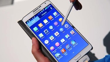 Samsung Galaxy Note 3 with S Pen stylus.