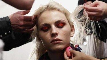 Pejic during New York Fashion Week.