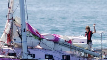 Bound for Sydney ... Jessica Watson.