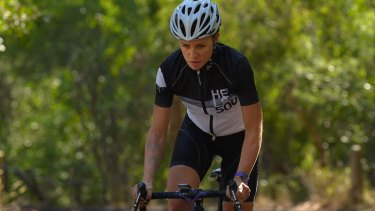 Sarah Hammond rode up Mount Buffalo eight times in 18 hours.