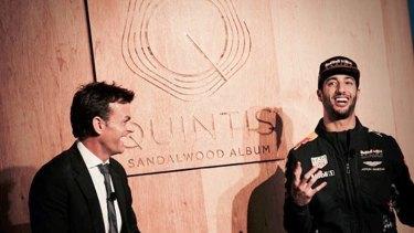 Adam Gilchrist and Daniel Ricciardo, ambassadors for Quintis.