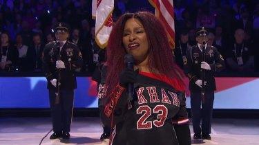 Chaka Khan Sings the National Anthem - 2020 NBA All-Star Game.