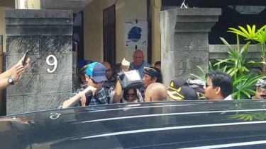 Schapelle Corby leaves her home of three years.