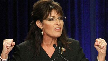 Sarah Palin speaks at the Republican National Committee in California earlier this month.