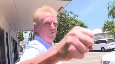 Two young thugs in Queensland were taken by surprise when a newsagent in his 50s fended them off using karate.