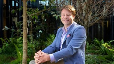 Radek Sali, the head of Swisse Vitamins, at the Collingwood office.
