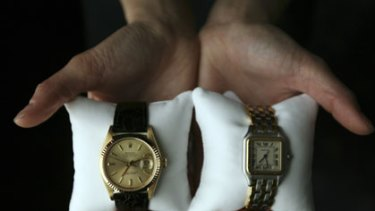 Watches ... a mens Rolex worth $7000 and a ladies Cartier worth $2800.