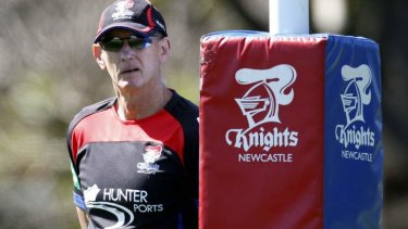 Old style: Master coach Wayne Bennett has taken the Knights to a preliminary final after toughening up his pack.