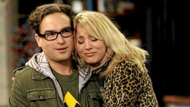 Favourite scenes ... Penny and Leonard (Kaley Cuoco and Johnny Galecki)