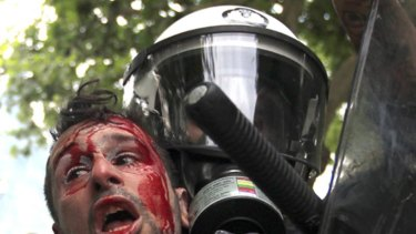 Police and protesters have clashed violently in Athens for two days.
