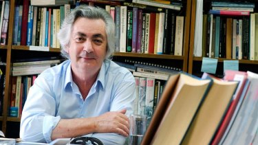 Robert Manne in his La Trobe University office.