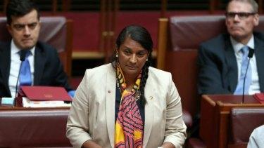 Senator Nova Peris makes her Senate statement.
