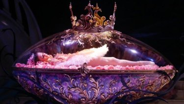 Sleeping ...  Lana Jones in <i>The Sleeping Beauty</i>.