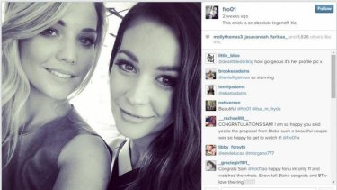 A recent Instagram of Sam Frost and Lisa Hyde.
