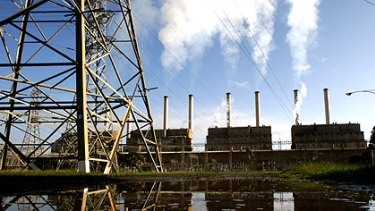 Prime target: The ''dirty'' Hazelwood power station in Latrobe Valley.