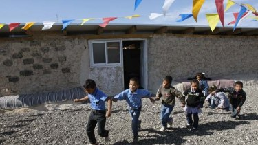 Threatened … the Jahalin Bedouin school.