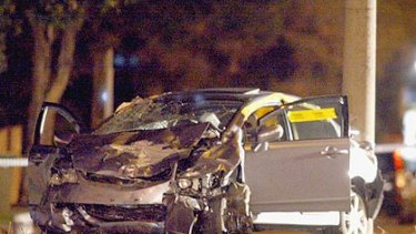 The car police allege was in an illegal street race when it crashed, injuring its driver and killing another motorist.